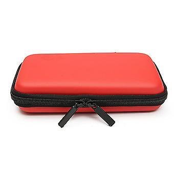 Viagem à prova d'água carregando bolsa de proteção de armazenamento de caixa para usb flash drive cor vermelha
