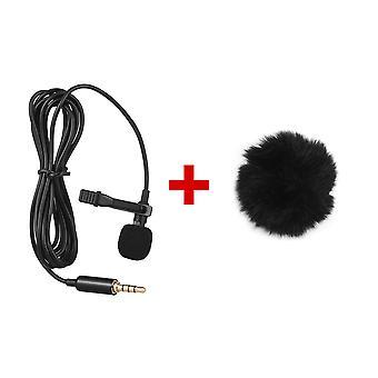Mini Kannettava Clip-on Lapel Lavalier Lauhdutin Mikrofoni Langallinen Mikrofoni