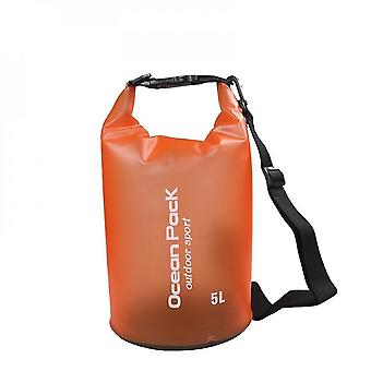 Orange 2l waterproof storage bag dry bag outdoor sports drifting bucket bag beach travel water barrel lc1023