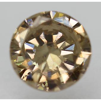 سيرت 0.70 Ct Fancy براون SI1 جولة رائعة تعزيز الماس الطبيعي 5.69mm 3VG