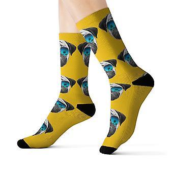 פאג במשקפי שמש כיף מודרני, חדשני גרביים