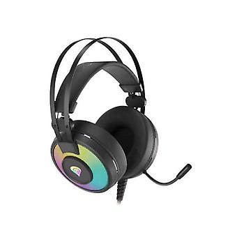 Headphones with Microphone Genesis Neon 600 RGB Black