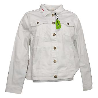 We By Living In Yellow Women's Jean Jacket White 733703