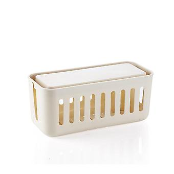 Power Cord Socket Storage Box Case Cable Manager Organizer Boxes Dustproof Safety Socket Outlet