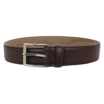 Hugo boss dark brown ellotyo sz35 belt