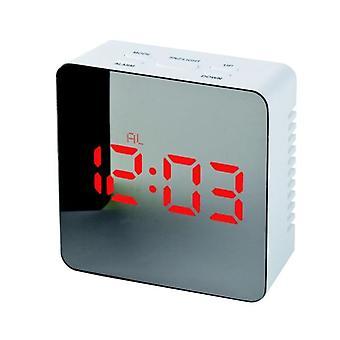 Led Alarm Clock-snooze Night Temperature Square Red Led Lightdigital Travel Alarm Clock