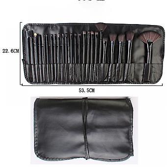 24pcs Makeup Brush Set Plastic Handle Full Set Makeup Brush Beauty Tool(black)