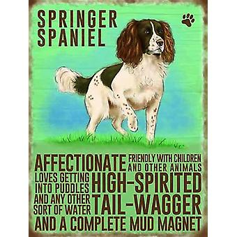 Springer Spaniel Wall Plaque by The Original Metal Sign Co