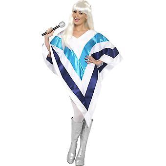 Schlager kostium 70s Ponczo Super Trooper Cape Panie