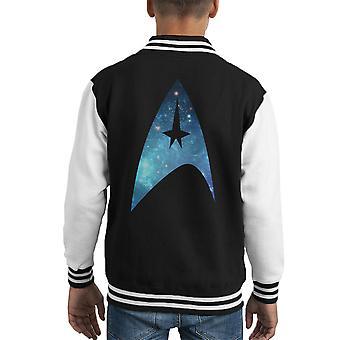 Star jaqueta Trek galáxia silhueta logotipo frota estrela infantil
