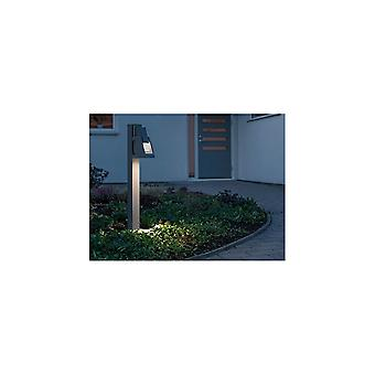 Konstsmide Potenza Modern Japanese Bollard Post Light, Grey