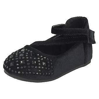 Girls Savannah Flat Velvet Shoes H2439
