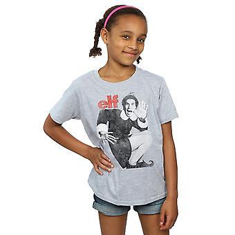 Elf Girls Mono Distressed Poster T-Shirt
