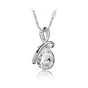 BOOLAVARD Fashion Eternal Love Angel Teardrop Crystal Pendant Necklace + Gift Box