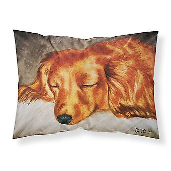 Red Longhaired Dachshund Fabric Standard Pillowcase