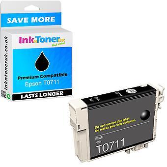 Kompatibilis Epson T0711 Black C13T07114011 tintapatron a SX105