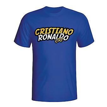 Cristiano Ronaldo Comic Book T-shirt (blau) - Kids