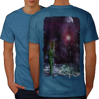 Halloween Night Horror Men Royal BlueT-shirt Back | Wellcoda