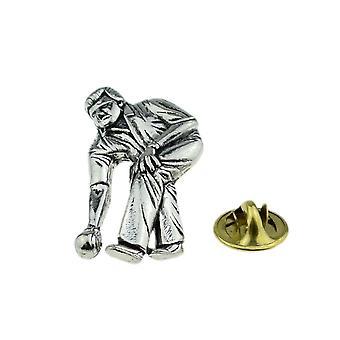 Kręglarstwo, Crown miski cyny Lapel Pin odznaka
