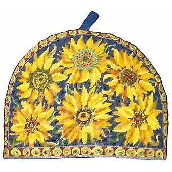 Blue Sunflower Teacosy Needlepoint Kit