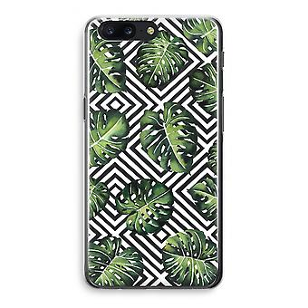 OnePlus 5 Transparant Case (Soft) - Geometric jungle