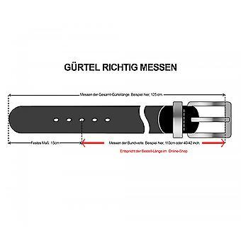 OTTO KERN belts men's belts leather belt Brown/olive 2252