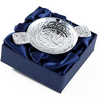 Come and Live with me and be my love - Two Doves Mini Pewter Quaich