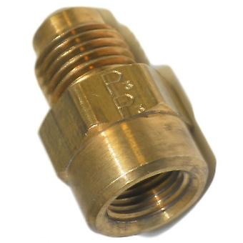 Big A Service Line 3-14642 Brass Flare Female Connector 1/4