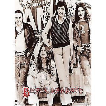 Giant Black Sabbath Early Group 40 x 55 Poster Print
