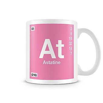 Wissenschaftliche bedruckte Becher mit Element Symbol 085 als - Astat