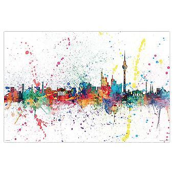Berliinin horisonttiin juliste Michael Tompsett Berliinin horisonttiin vesiväri 61 x 91,5 cm