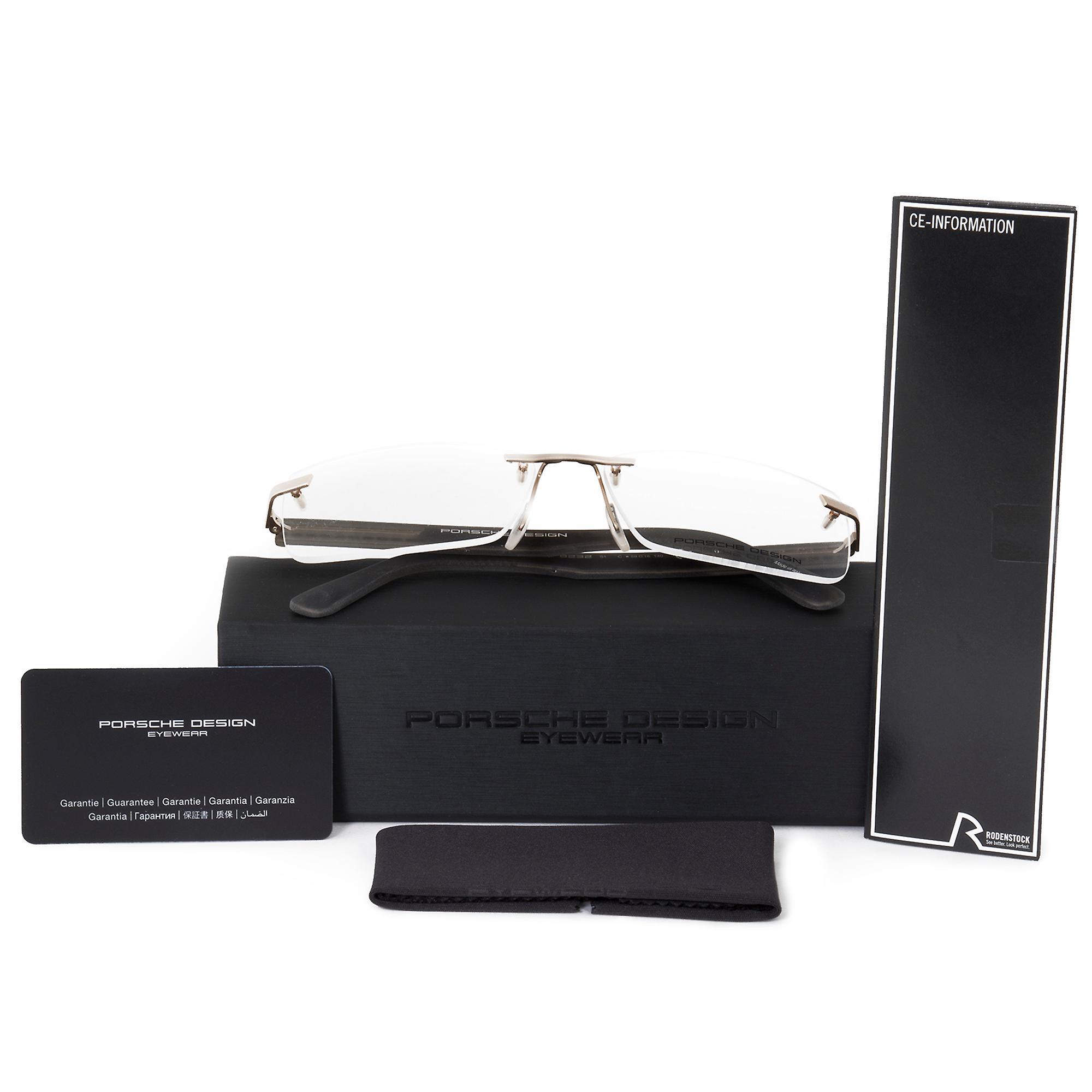 Porsche Design P8232 C Rectangular   Matte Gold Grey  Eyeglass Frames