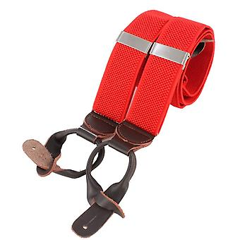 Knightsbridge Neckwear Luxury Braces - Red