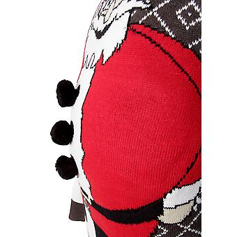 Rohkea sielu miesten pehmustettu vatsa Santa yksinkertainen joulu-pusero