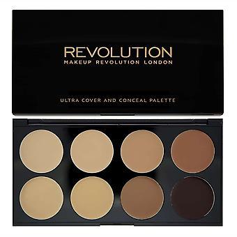 Makeup Revolution Ultra Cover et Conceal Palette Medium-Dark