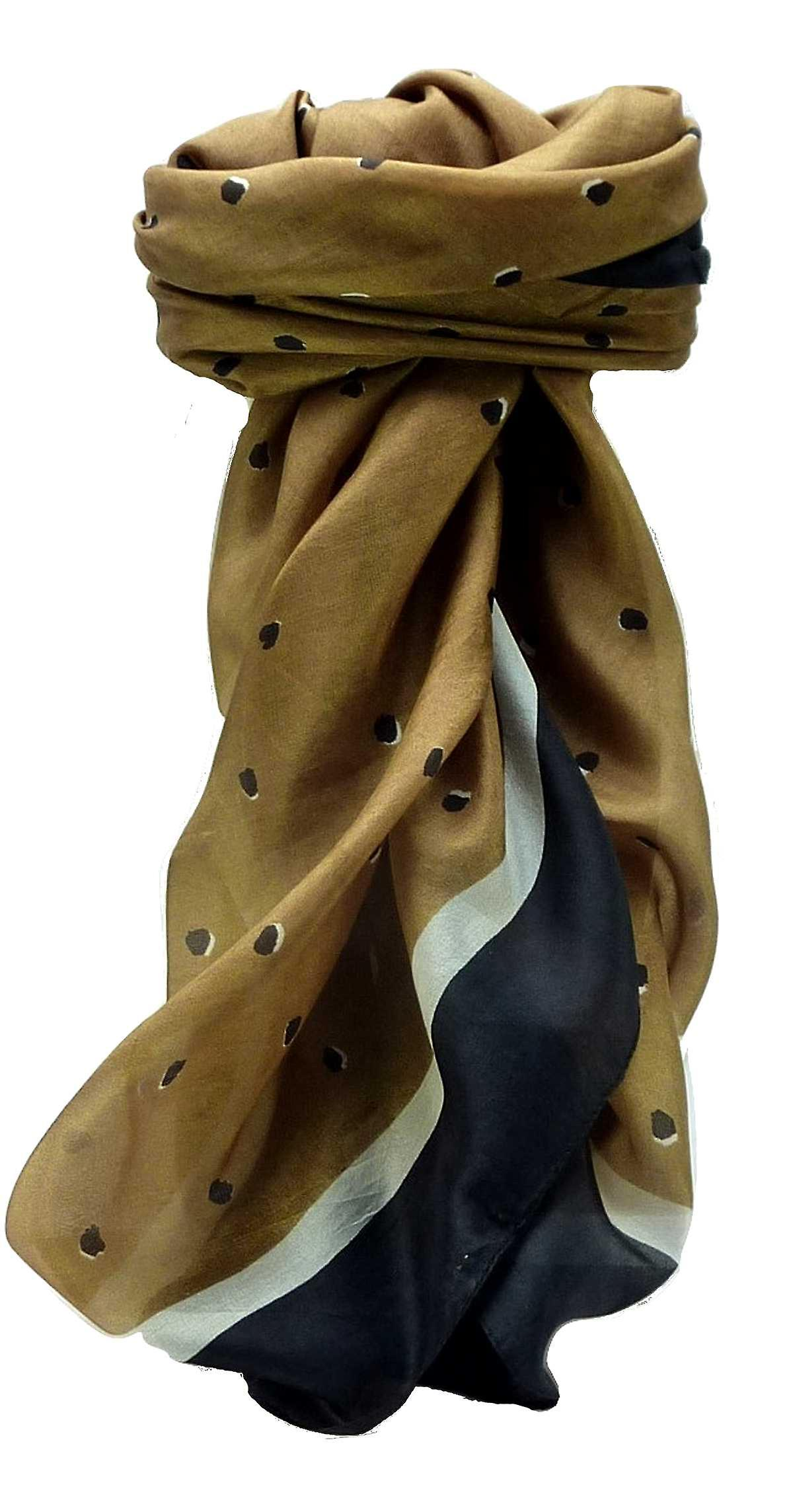 Mulberry Silk Contemporary Square Scarf Geometric G105 by Pashmina & Silk