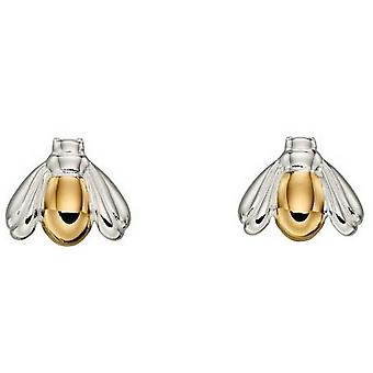 Elements Silver Bug Earrings - Silver/Gold