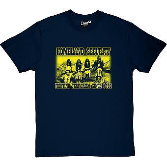 Homeland Security: Kampen mot Terrorism sedan 1492 mäns T-Shirt