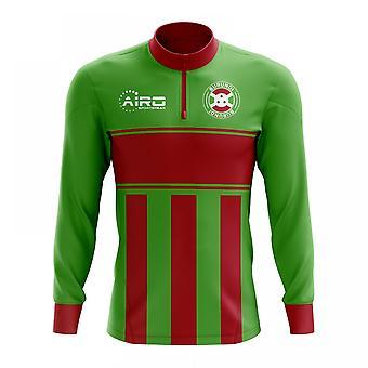 Burundi-Konzept Fußball Half Zip Midlayer Top (grün-rot)