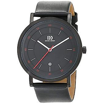 Tanskan Design 3314527-miesten rannekello, nahka, väri: musta