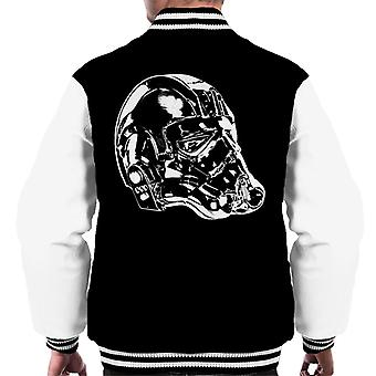 Original Stormtrooper Imperial TIE Pilot Helmet Side Shot Men's Varsity Jacket