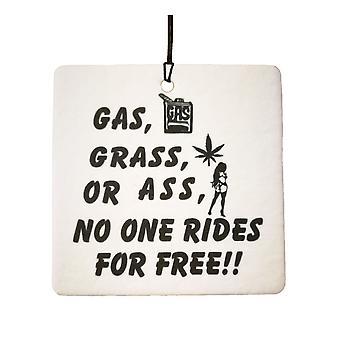 Trawa gazu lub tyłek samochodowa zawieszka zapachowa