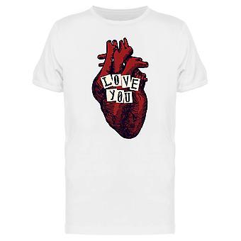 愛の解剖学的心 t シャツ メンズ-シャッターによる画像