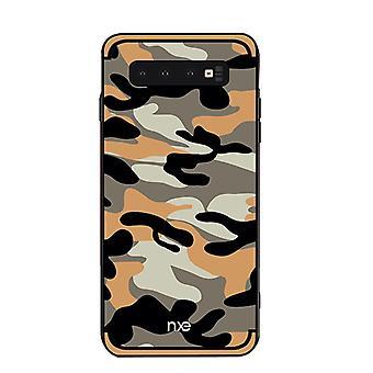 NXE Samsung Galaxy S10 TPU-shell-camouflage-yellow