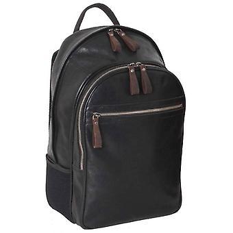 Ashwood Leather Stratford Milled VT Leather Rucksack - Black
