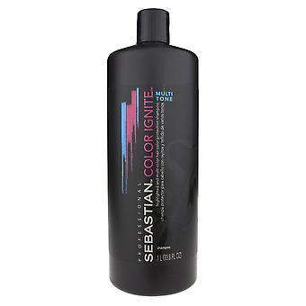 Sebastian colore Ignite Multi tono Shampoo 33.8 oz/1 litro nuovo