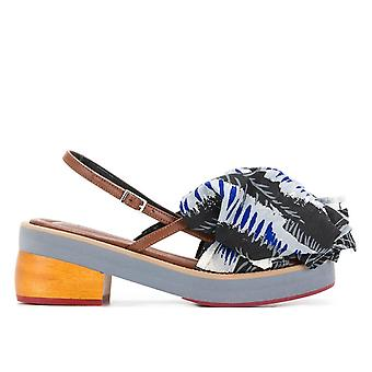 Marni Samsy09g06tcw04 Women's Multicolor Fabric Sandalen