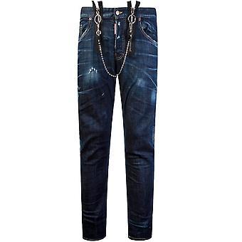 DSquared2 gesp schaatser jeans blauw