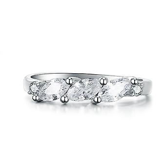 925 Sterling Silber Marquise Ring