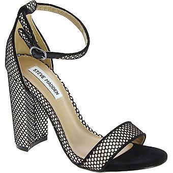 Steve Madden-ankel strop til kvinder High Block hæle Sandaler i sort stof